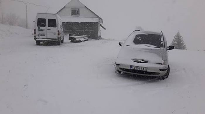 На Міжгірщину повернулася зима зі снігом та морозами