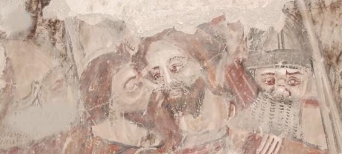 На Хустщині у храмі під шаром вапна виявили мурал часів Середньовіччя (ВІДЕО)