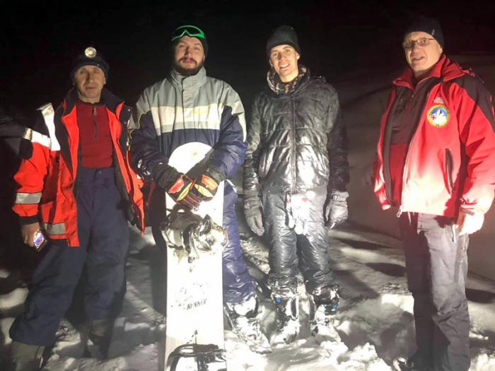 В снігах Рахівщини рятувальники шукали заблукалих сноубордистів